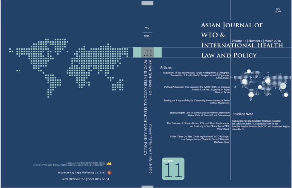 Asian Journal of WTO & International Health Law and Policy